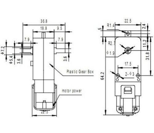Motorreductor con caja reductora 6V 1-48 (7)